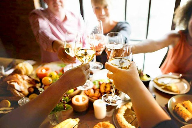 No dirty dishes? We'll cheers to that! - COURTESY OF PRONGHORN RESORT