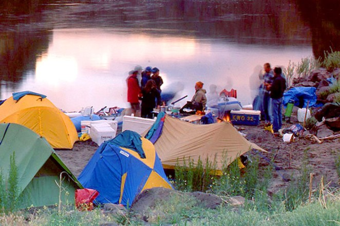 Camping on the Owyhee River. - SUE ANDERSON