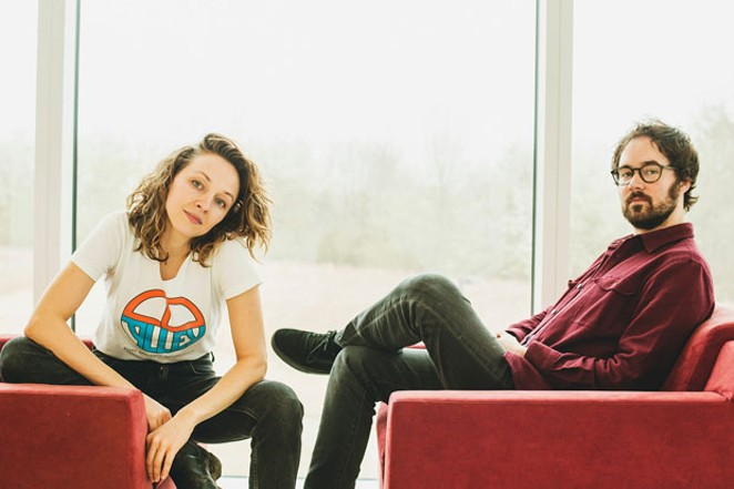 Marlin poses with the other half of Mandolin Orange, Emily Frantz. - KENDALL BAILEY