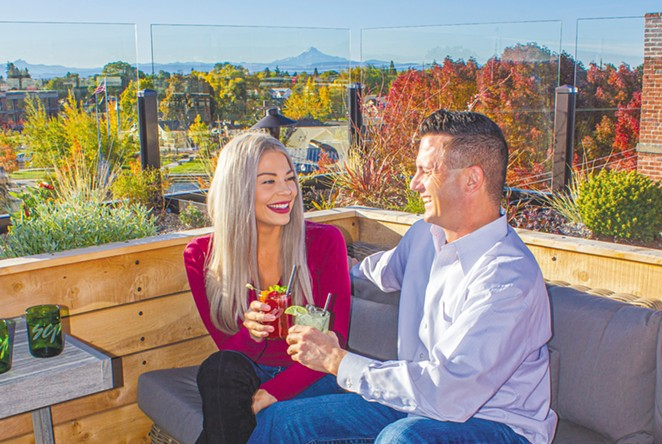Views from above The Rooftop bar at the SCP Redmond. - DARRIS HURST