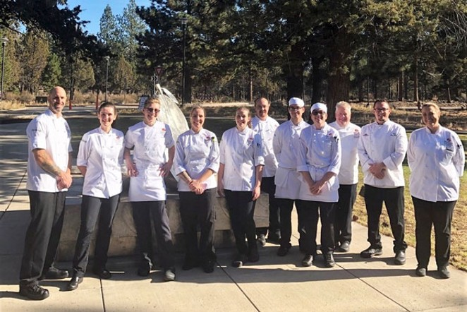 'Chopped' competitors were judged by Culinary Institute instructors and Anthony's chef - COURTESY OF OLD MILL DISTRICT