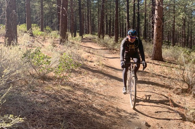 Kevin English, co-founder of Dirty Freehub, on the Water and Lava gravel route. - COURTESY DIRTY FREE HUB