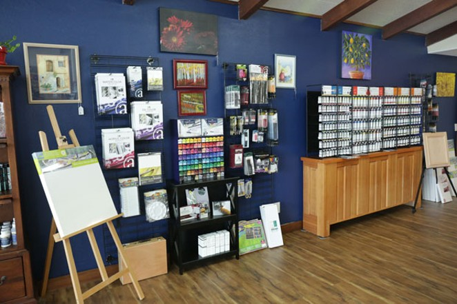 Treat the artist in your life with something from this art & music supply wall. - KEPI HURT