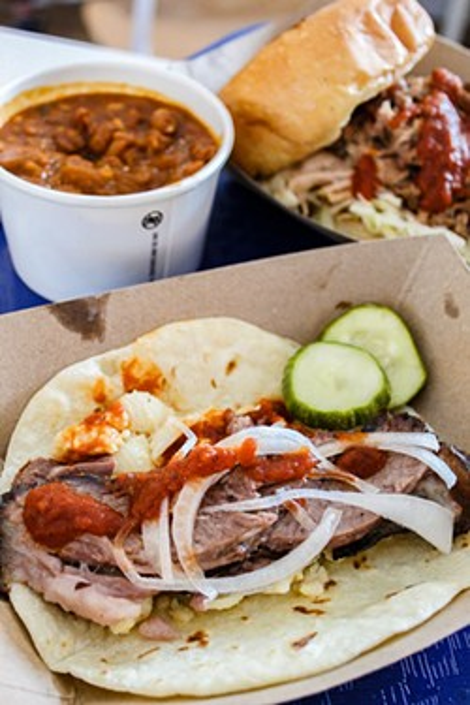 Smoked meats, served Austin-style. - NANCY PATTERSON