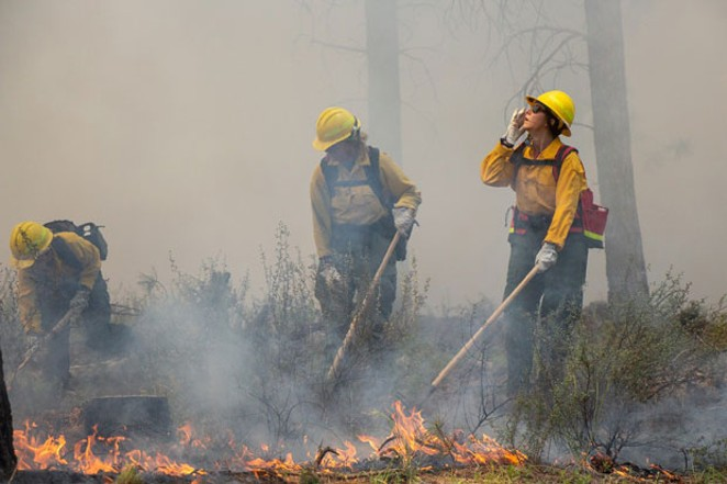 Source staffer Keely Damara spent a day with fire crews, training for the 2019 fire season. Fortunately, the fire season turned out to be much more mellow than years past. - KEELY DAMARA