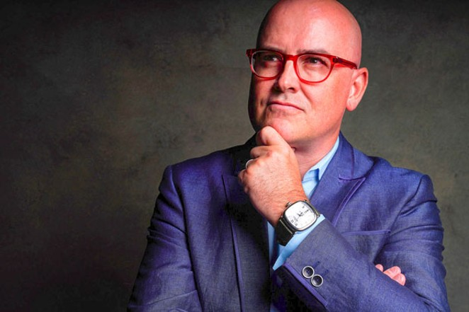 """Steve Brown, better known as """"The Bald Futurist."""" - COURTESY STEVE BROWN"""