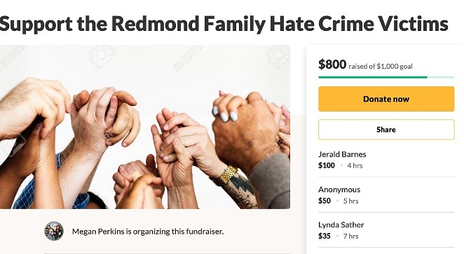 A screenshot of the fundraiser page at Go Fund Me, launched Jan 8. - GO FUND ME