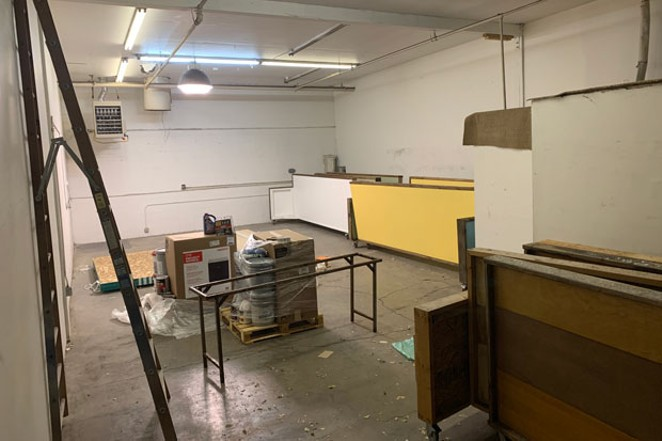 A blank canvas and a new opportunity: The space at Outrage Art Collective. - JASMINE BARNETT