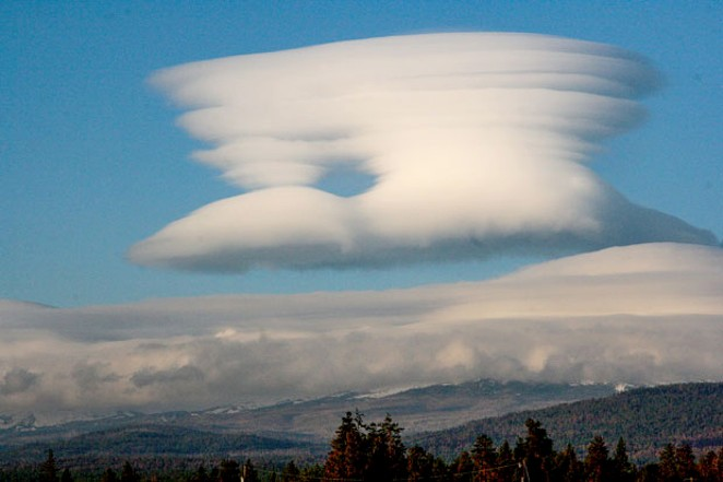 Standing lenticular clouds over the Cascades. - JIM ANDERSON