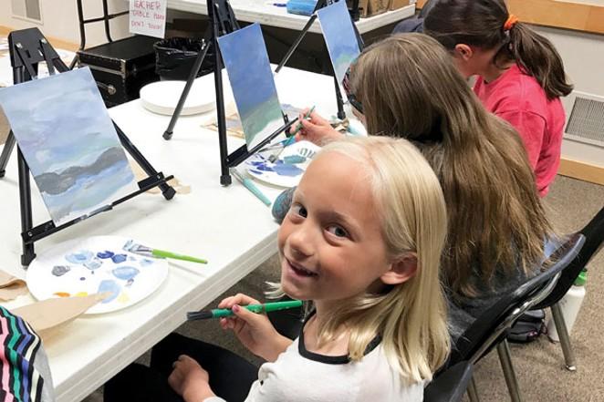 Big smiles for Kid's Art classes at the High Desert Museum. - BECCA BURDA