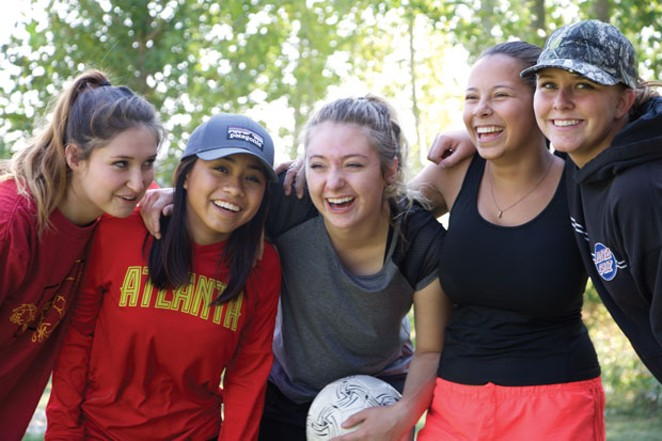 J Bar J runs the Academy at Sisters, a residential program for teen girls. - COURTESY J BAR J