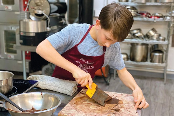 Pacific Crest student, Reggie Strom, is competing in the Kids Baking Championship. - LISA SIPE