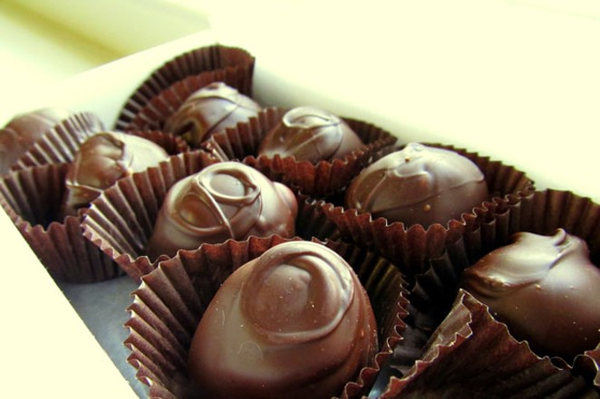 If you're going for the traditional chocolates, at least make them local. - AMY, FLICKR