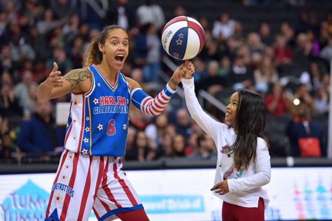 Spreading joy through basketball is part of the Harlem Globetrotters' mantra. - COURTESY HARLEM GLOBETROTTERS