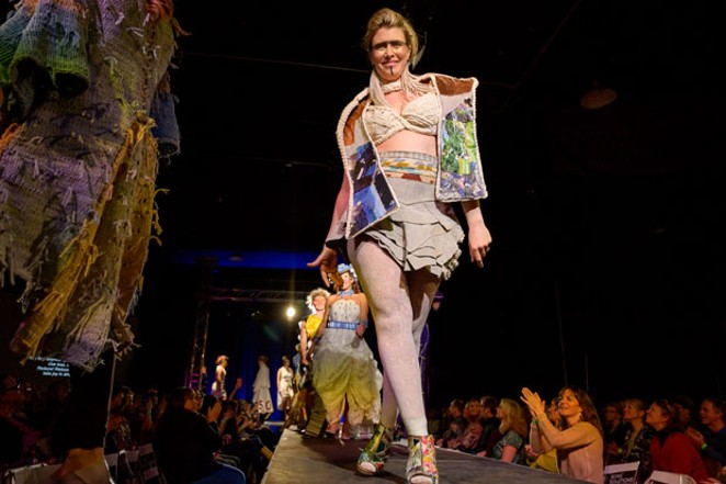 We still can't get over the looks from Rubbish Renewed Eco Fashion Show! This year's event helped raise more than $30,000, all of which will go to REALMS schools. - PHOTO BY: SHE PHOTOGRAPHY / DESIGNER: SIMONE KUJAK / MODEL: PHOEBE SCHAAB