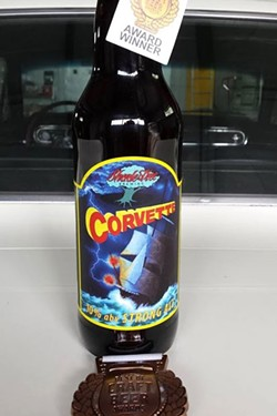 Corvette Strong Ale, with its winnings. - COURTESY SHADE TREE BREWING