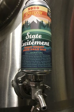 State of Excitement IPA, perched on a zwickel. - ZACH BECKWITH