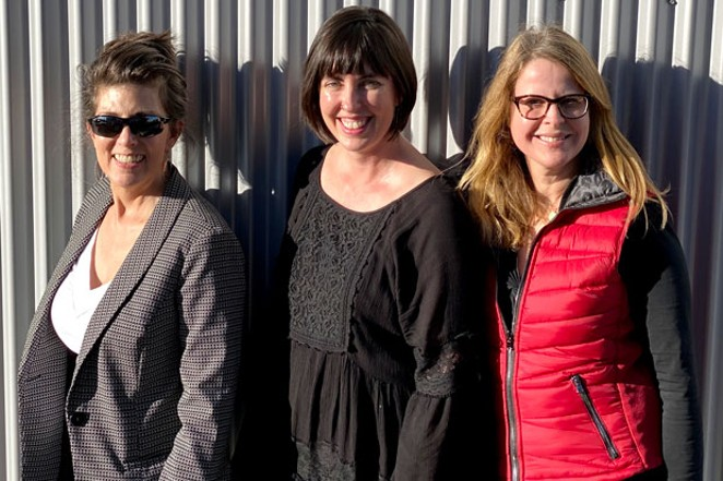 From left, Technology Association of Oregon's Teri Hockett, Women in STEAM chair Maggie Hubbell and Luann Abrams. - COURTESY MATT ABRAMS