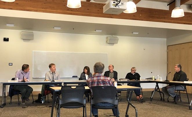 The Bend Park and Recreation Board convenes for its emergency meeting. - ISAAC BIEHL