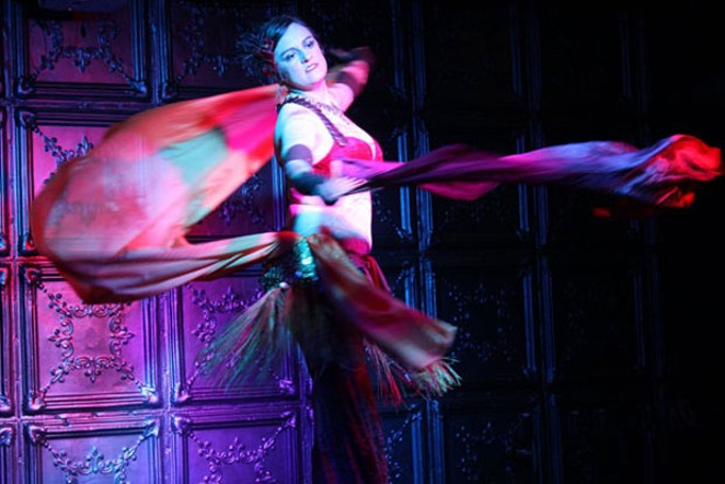 """Local dancer Leia Napoli performing as part of the local variety showcase, """"Shelter in Place."""" - MEHAUMA KROPP"""