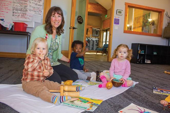 Cascade School of Music instructor Barbara Hogstad teaches Kindermusik classes. - DARRIS HURST