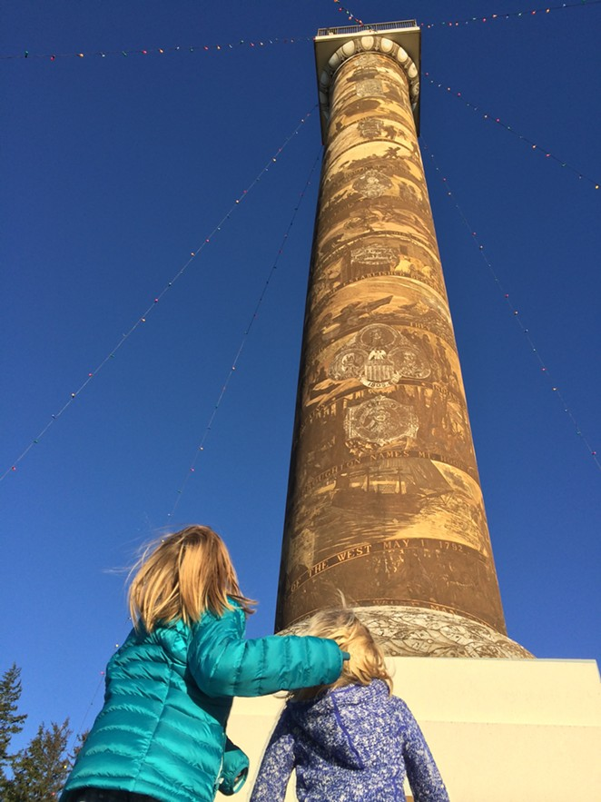 The Astoria Column—the best view in town. - COURTESY KIM COOPER FINDLING