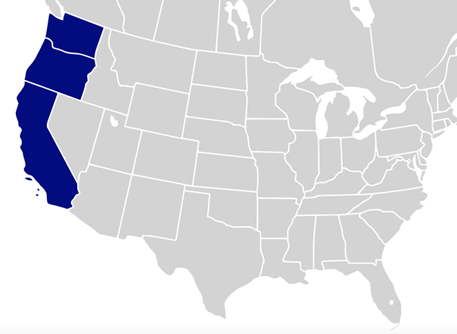 With no uniform decision on closing or re-opening economies coming from the federal level, and each state crafting its own plan, the governors of the three Pacific states in the contiguous United States have formed a pact to re-open the states' economies together. - NOAHNMF, WIKIMEDIA