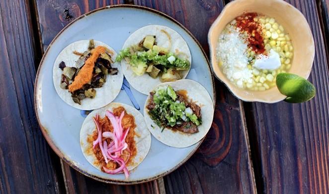 Tacos at la Catrina include street-food faves such as nopales and cochinita pibil. - COURTESY TACOS LA CATRINA