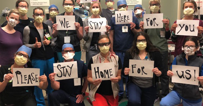 A message from those on the frontlines of treating COVID-19 in Central Oregon. - ST. CHARLES HEALTH SYSTEM