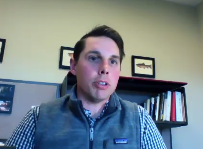 Damon Runberg studies the economy of Central Oregon and other nearby counties for the Oregon Employment Department. - SCREENSHOT VIA BEND CHAMBER OF COMMERCE/YOUTUBE