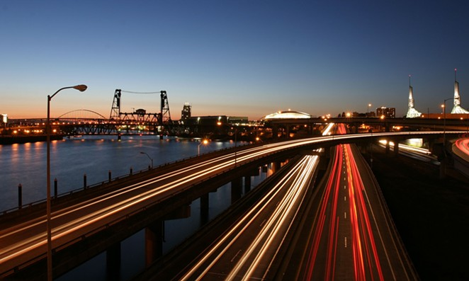 Pre-coronavirus Portland traffic on U.S. Interstate 5 (I-5). - WIKIMEDIA