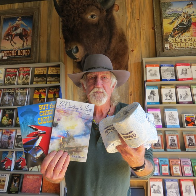 Buy a book, get a free roll: Rick Steber thinks of creative ways to stay open amidst statewide closures. - RICK STEBER