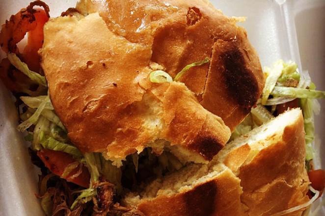 Tasty, toasted bread highlights the torta at La Posada in Madras. - NICOLE VULCAN