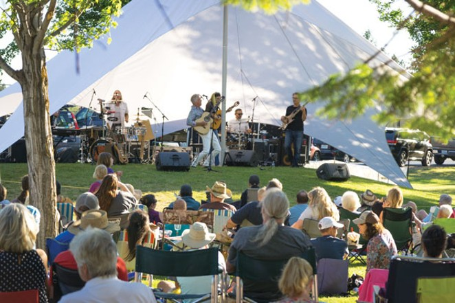 Todd Haaby & Sola Via will open up Music on the Green on June 24, just as they do every year—but it won't look quite like this. - COURTESY REDMOND CHAMBER OF COMMERCE