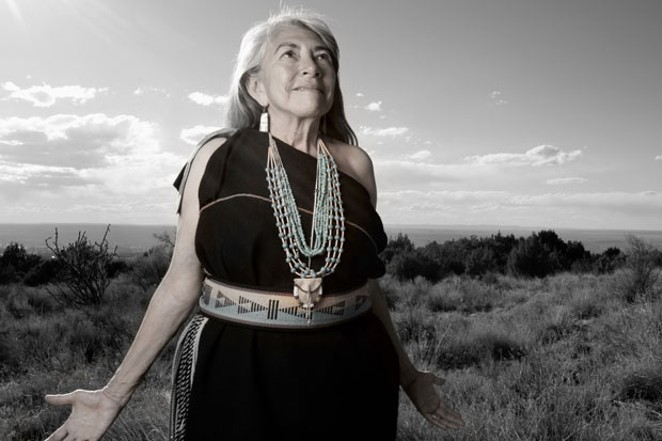 Dr. Mary Evelyn Belgarde (Pueblo of Isleta and Ohkay Owingeh), 2014. - MATIKA WILBUR
