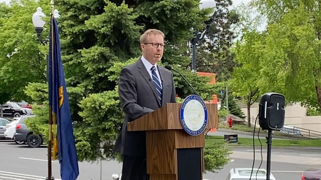 John Hummel has been serving as Deschutes County District Attorney since 2014, when he was first elected to office. In response to Black Lives Matter protests, he's pushing for body cams for local law enforcement officers as well as many other criminal justice reforms. - LAUREL BRAUNS