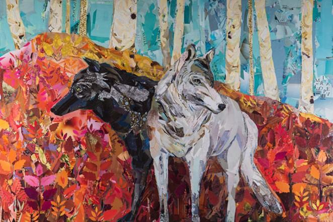 """Braided Be,"" collage art by Kaycee Anseth. - KAYCEE ANSETH"
