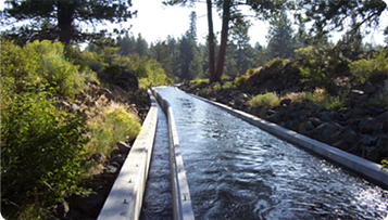 A partially piped canal in Arnold Irrigation District. - COURTESY OF STINGRAY COMMUNICATIONS