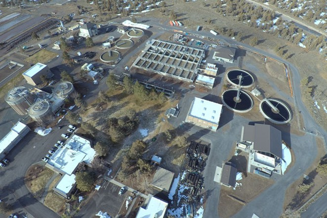 The City of Bend's Water Reclamation Facility near Powell Butte. Water from Bend takes about seven to eight hours to flow to this facility, where it undergoes a multiple-step process to be treated. - COURTESY CITY OF BEND