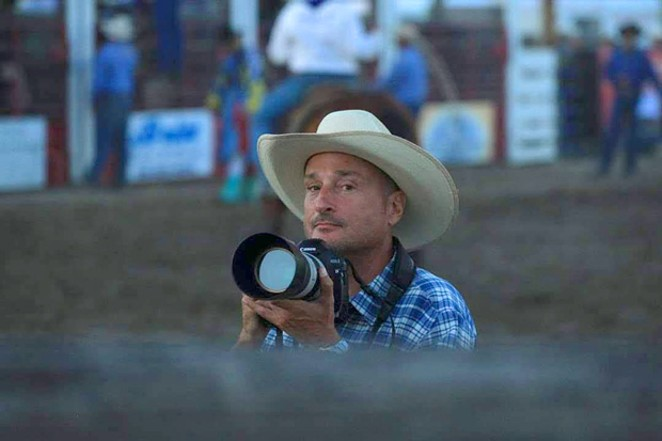 Jason Brummond, who owns Photo 13 Media, makes a living traveling to rodeos and other events around Oregon, taking photos of amateur athletes and selling the pictures after the show. During the pandemic lockdowns, he was out of work for months and it took up until last week to receive his unemployment insurance. - COLE BRUMMOND
