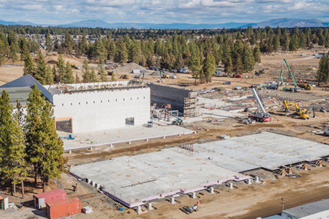 A recent photo of Bend's Caldera High School, where police say James Bickers died early Tuesday. - BEND-LA PINE SCHOOLS