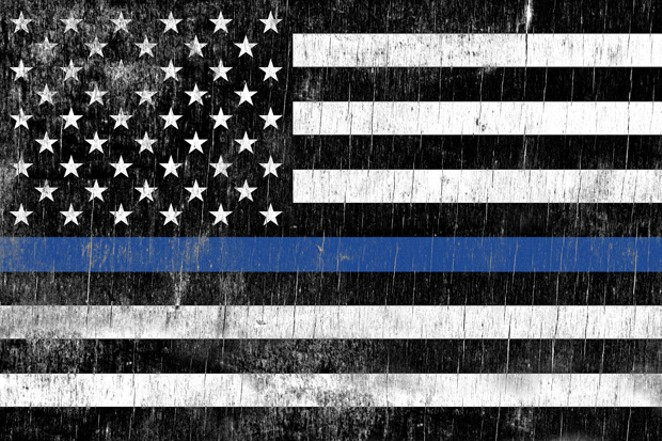 Law Enforcement Support Flag. - ADOBE STOCK