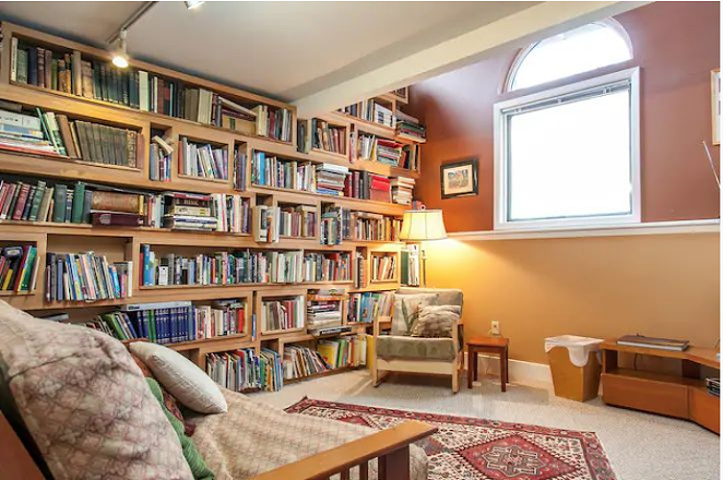 Immerse yourself in books in this quirky home a few minutes from downtown Bend. - MARK BERNAHL