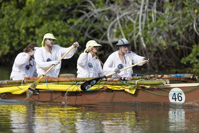 Team Bend puts their paddling skills to good use. - COURTESY AMAZON STUDIOS