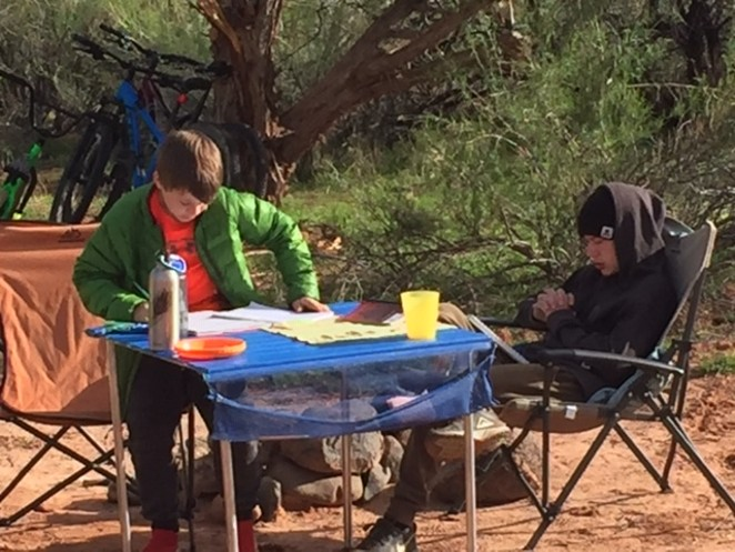 Alyce Pearce started Minds Outside, an enrichment school for elementary students in Bend. Kids will spend the majority of the school day outside working from camping table desks and learning about nature. - ALYCE PEARCE