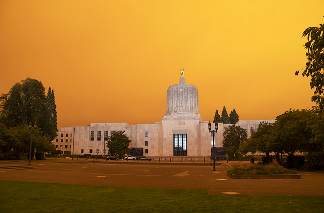 The Oregon State Capitol in Salem, on Sept. 8. - OREGON DEPARTMENT OF TRANSPORTATION, FLICKR