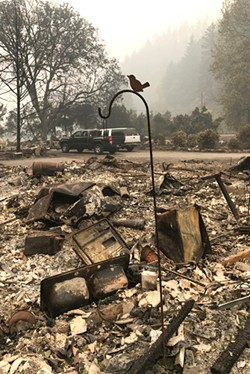 Kiger Plews' home in Vida, Oregon—along with the homes of other members of his family were devastated in the Holiday Farm Fire. - KIGER PLEWS