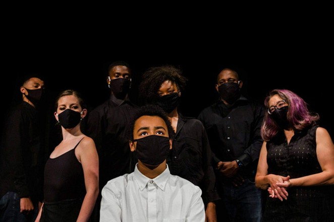"""The cast of """"Evanescent,"""" an original play that takes on living with mental health issues. - COURTESY CASCADES THEATRICAL COMPANY"""