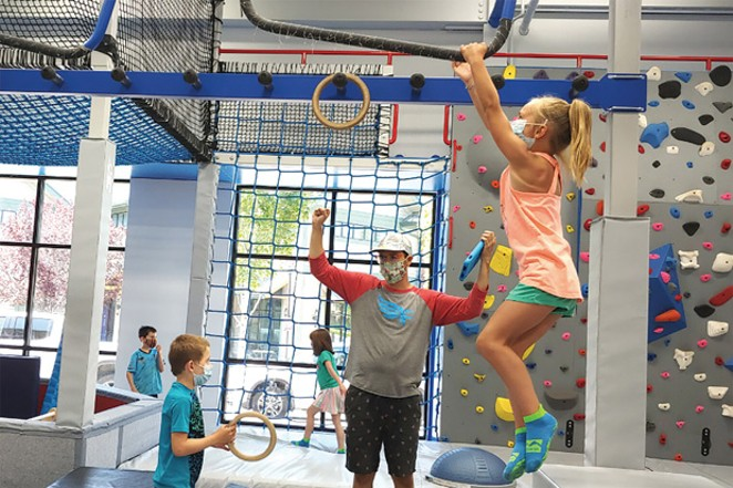 Burn that energy and work through challenging obstacles at Ninja Warrior Classes. - COURTESY FREE SPIRIT YOGA + FITNESS + PLAY