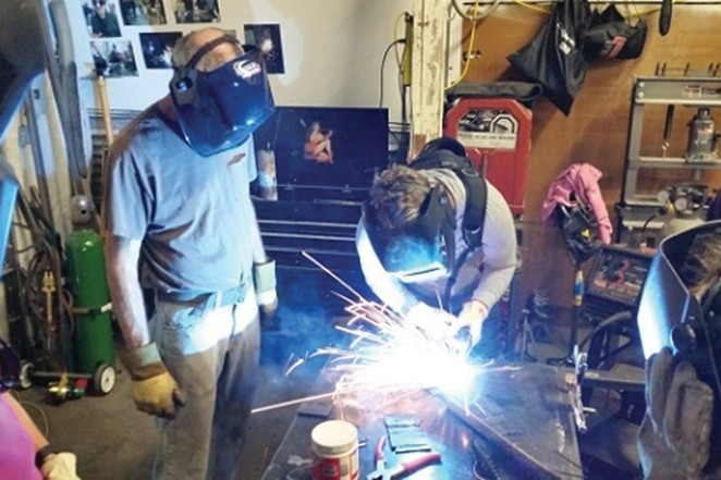 DIY Cave offers hands-on learning experiences with welding classes for beginners or youth. - COURTESY DIY CAVE